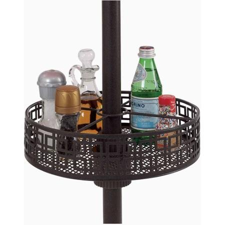 Amazon.com : Round Patio Umbrella Basket Organizer Tray   Holds Condiments,  Cell Phones, Napkins, Flatware And More : Patio, Lawn U0026 Garden