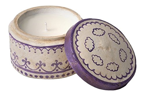 Himalayan Trading Post 818547019412 Violet Terracotta Pot Hand Painted Ginger Patchouli (Violet Patchouli)