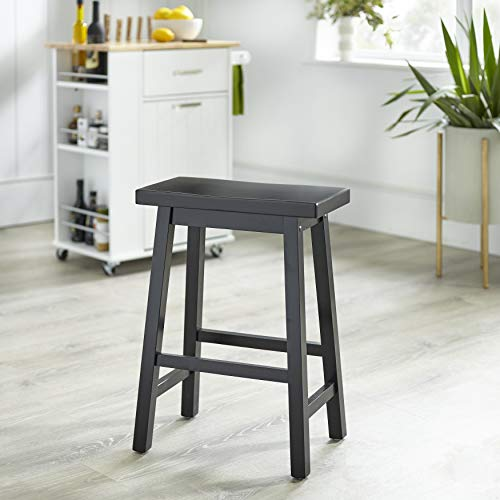 Target Marketing Systems 30-Inch Arizona Wooden Saddle Stool, Black ()