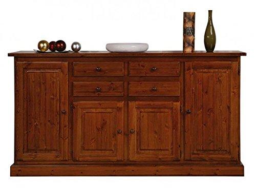 Credenza Bassa Rustica : Arredamenti rustici credenza rustica in pino colore miele amazon
