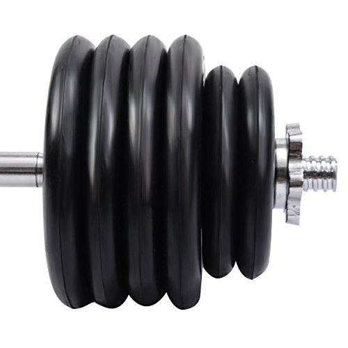 New 52 LB Barbell Dumbbell Weight Set Gym Lifting Exercise Curl Bar Workout