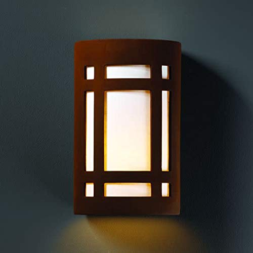 Ambiance Closed Top Large Craftsman Outdoor Wall Sconce Finish: Granite ()