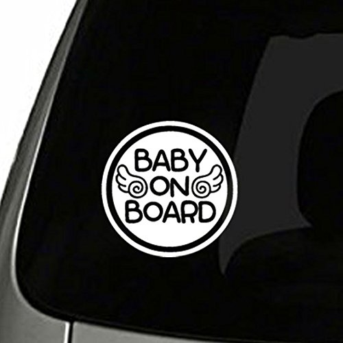 Angel Gun Boards (TOTOMO #ALI-022 Baby on Board Sticker Decal Safety Caution Sign for Car Windows - Baby Angel)