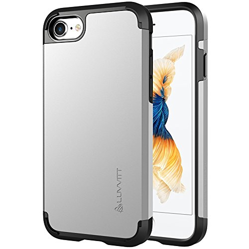 Luvvitt Ultra Armor iPhone 7 Case/iPhone 8 Case with Dual Layer Heavy Duty Protection and Air Bounce Technology for Apple iPhone 7 (2016)/iPhone 8 (2017) - Silver
