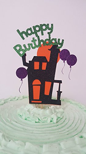 Haunted House Halloween Cake Topper -