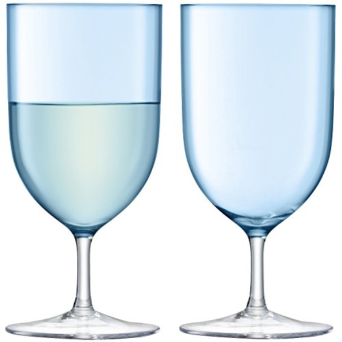 - LSA International G939-14-734 Hint Wine/Water Glass, 13.5 fl. oz, Pale Turquoise