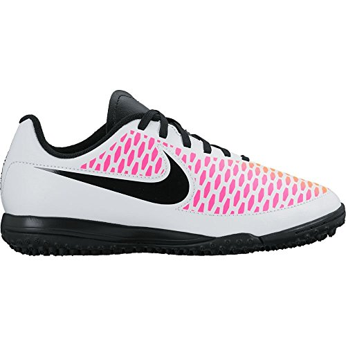 NIKE Girl's Magista Onda Turf Soccer Cleat White/Black/Pink Blast Size 10 Kids US by NIKE
