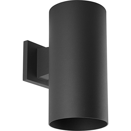 Progress Lighting P5641-31 6-Inch Cylinder with Heavy Duty Aluminum Construction and Die Cast Wall Bracket Powder Coated Finish UL Listed for Wet Locations, Black ()