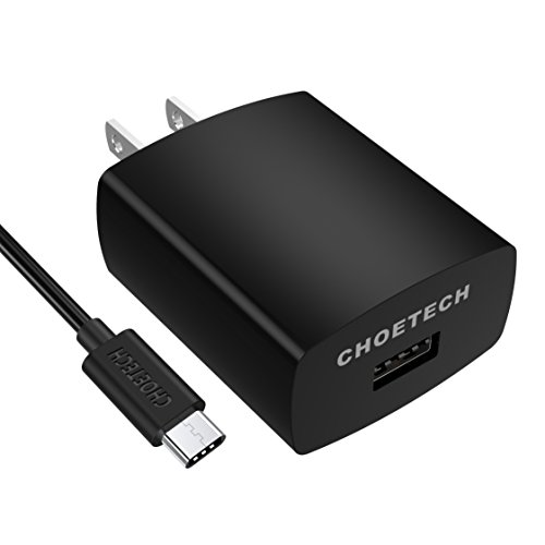 Large Product Image of Quick Charge 3.0, CHOETECH 18W USB Wall Charger (USB C Cable Included) for Galaxy Note 8, S8, S8 Plus, LG V30, LG G6, G5, HTC U11/HTC 10, Samsung, iPhone, iPad and more
