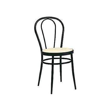 Sedia Vienna Metallo.Estea Mobili Sedia Thonet Metallo Nero Cucina Sala Seduta