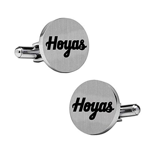 Georgetown University Hoyas Stainless Steel Round (Georgetown Hoyas Cufflinks)