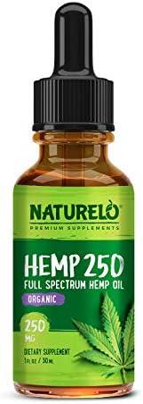NATURELO Hemp Oil Drops Supplement product image