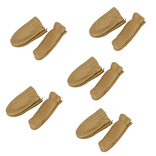 Baosity 5Pairs Leather Finger Guard Covers Craft Sewing Thumb Finger Protection (Leather Polishing Finger Guards)