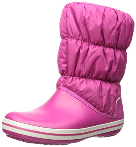 crocs Women's Winter Puff Snow Boot, Berry, 7 M US