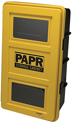 Allegro Industries 4100‐P PAPR Wall Case, 20'' x 13'' x 32 1/2'', Yellow