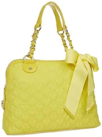 Betsey Johnson BH94310 Satchel,Yellow,One Size