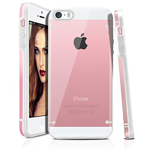 Shockproof Armor Case for Apple iPhone SE/5S/5 (Crystal/White) - 7