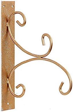アイアンブラケット ミニマリスト丈夫な植物は、ハンギングバスケットプランター提灯ガーデンウォールフックハンガーアイアンプラントハンガーフック 庭の装飾 (Color : As shown, Size : 24x5x30cm)