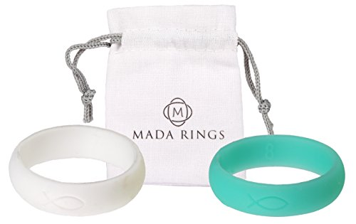 Women Silicone Mada Rings White