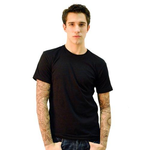 Wild Rose Men's Cotton T Shirt KingPinz Tattoo Sleeve, Bl...