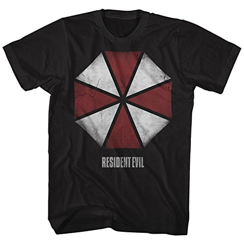 American Classics Resident Evil Horror Science Fiction Film Video Game Umbrella Adult T-Shirt Tee ()