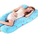 Pregnancy Pillow For Growing Tummy Support Full Body Maternity Pillow with Contoured U-Shape Back Support For Mother With Zipper Removable Cover
