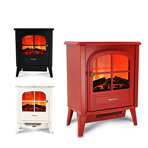 YXIUER 2000W Fireplace Stove Tall Freestanding Fireplace Heater and 2 Settings 3D and Brightly Fire and