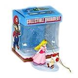 : Super Mario Collectible Ornament - Princess Peach & Toad Figure