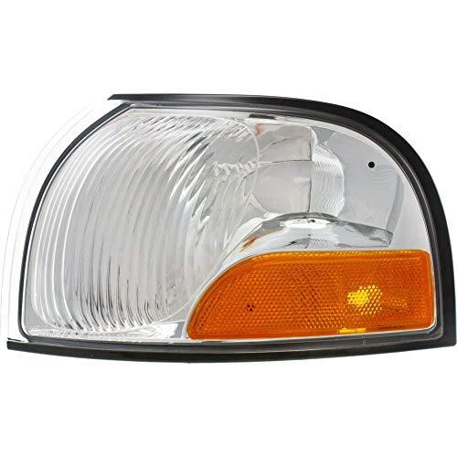 - HEADLIGHTSDEPOT Chrome Housing Halogen Park Light Compatible with Mercury Nissan Quest Villager 1999-2002 Includes Left Driver Side Park Light