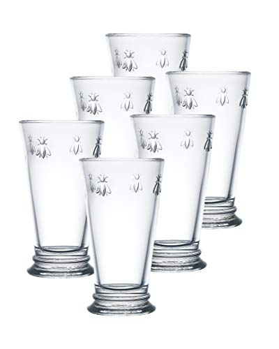 La Rochere Set Of 6, 15-ounce Napoleon Bee Double Old Fashioned Glasses (French Bee Glasses)
