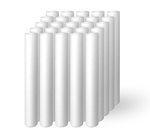 Ronaqua 25 Pack of Melt-Blown Four Layers Filtration Polypropylene Sediment Filters 20