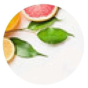 alfombrilla de ratón Los cítricos rodajas con hojas verdes, bandera - ronda - 20cm