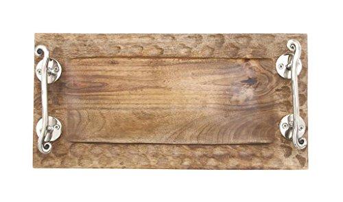 Deco 79 23580 Classy Wood Rectangular Tray, 16