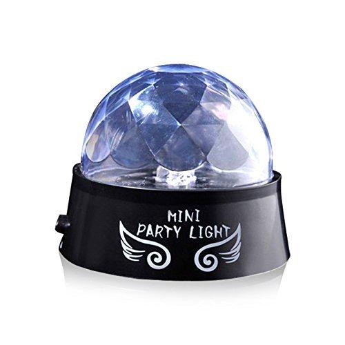 unicoco Mini etapa luces, ejboth Magic Ball Lá mpara de etapa LED RGB Efecto giratorio parte luz activada por sonido de bola de cristal + mando a distancia atmó sfera bombilla para discoteca KTV