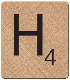 Scrabble imán, Color Blanco, Madera, Blanco, 0.9 x 3.7 x 4.2 cm: Amazon.es: Hogar