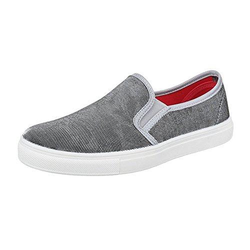 Womens Shoes, FC16V05, halbschuhe Slipper Grau 22-168