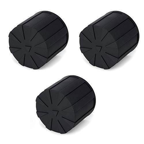 Digislider Silicone Universal Lens Cap - Fits Over 99% of Lenses, Scratch Proof, Waterproof, Dustproof, Shock-Absorbent, Lens Cover for 60-110mm Lenses (3 Pack)