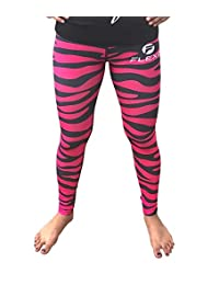 Women's Pink Leggings Camo Zebra Print Pant For Yoga, Working Out And Sports