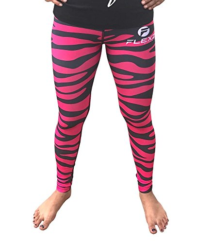 Zebra Print Yoga Pants - 8
