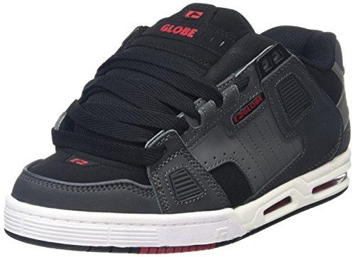 Globe Sabre, Zapatillas de Skateboarding para Hombre Gris (Grey/Black/Red)