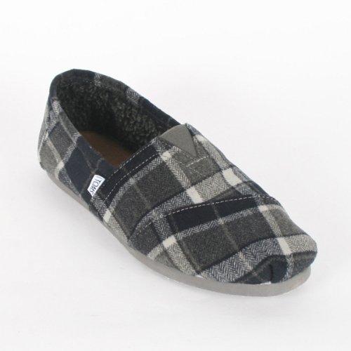 Toms - Mens Grey Tartan Classic Shoes, Size: 9 D(M) US, Color: Grey Tartan