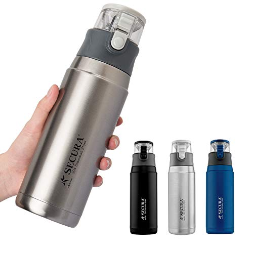 Secura Insulated Water Bottle -- Stainless Steel Thermos Water Bottle for Hot...