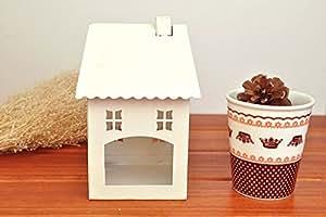 T & T pequeña casa/mano/plancha/Candelero