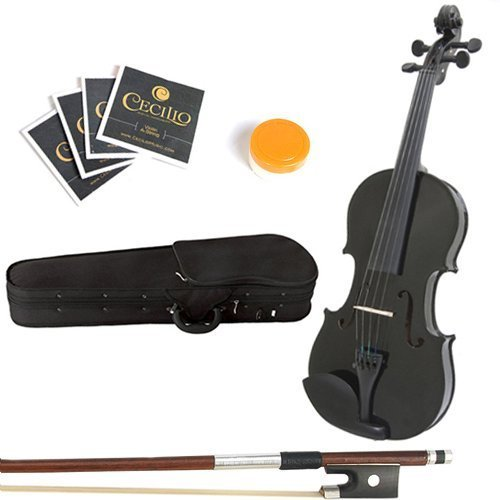 Mendini 16-Inch MA-Black Solid Wood Viola with