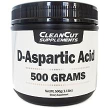 D-Aspartic Acid Powder (500 Grams/1.1 Pound) by Clean Cut Supplements