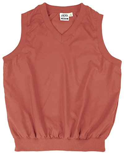 - Akwa Made in USA Men's Microfiber Water Repellent V-Neck Pullover Vest Rust