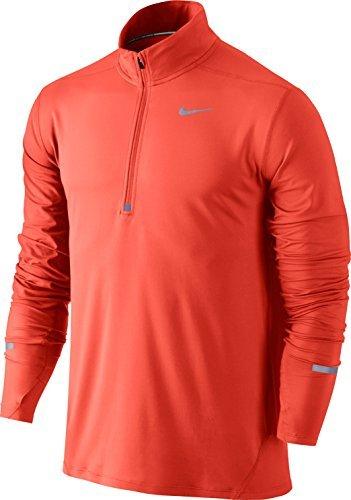 NIKE Men's Dry Element Running Top B00CJMFQV0 Medium|Max Orange/Reflective Silver