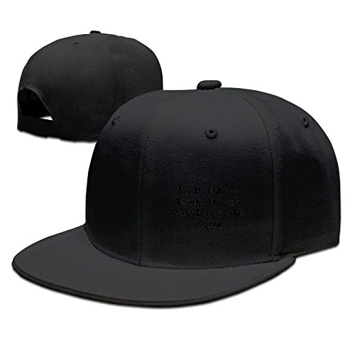 Bhfadso Best Dad in The World Adjustable Hat Flat Along Baseball Flat Cap Black for Unisex