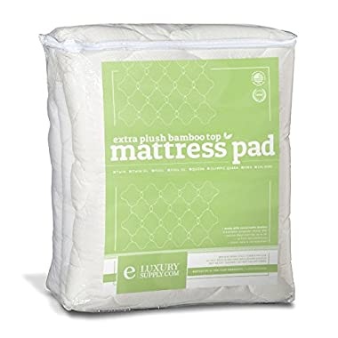 Extra Plush Bamboo Top Fitted Mattress Pad, King