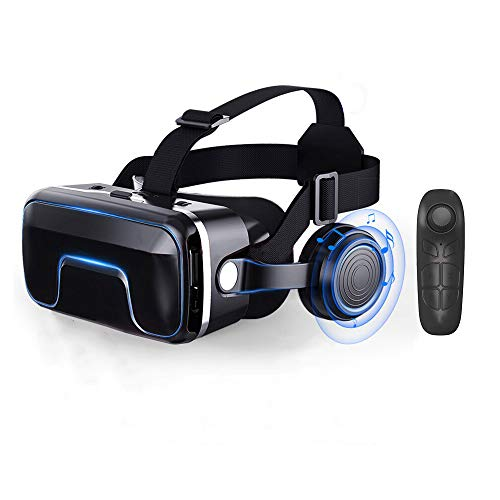 ZeYe VR Virtual Reality 3D Glasses Optical Lenses Clear Vision + Smart Bluetooth Wireless Remote Control Gamepad (Best Vr Glasses For Smartphones)